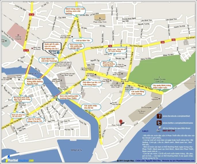 Bản đồ TP Phan Thiết
